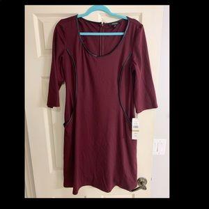 Burgundy Red missy dress size 12 Brand New !